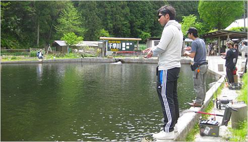 ルアー・フライ釣りの様子